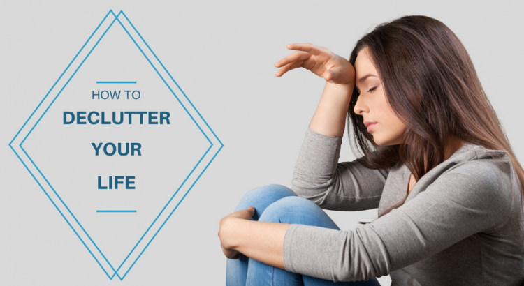 woman thinking how to declutter your life
