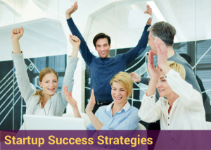 picture of entrepreneurs celebrating results of success strategies for business and personal development