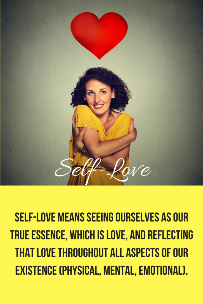 woman demonstrating self-love