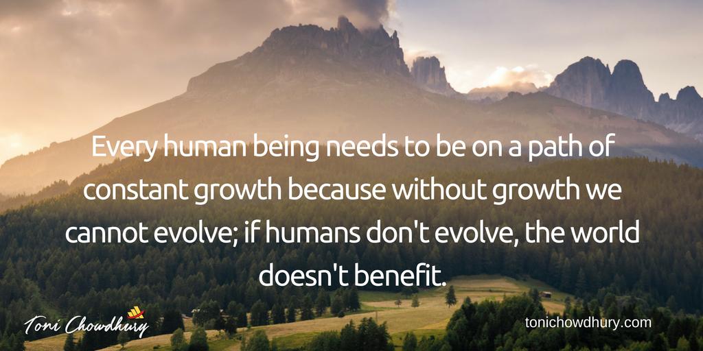 personal development quote by Toni Chowdhury